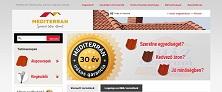 Webáruház referenciák - Mediterrán tetőcserép webáruház