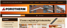 Webáruház referenciák - Porotherm webáruház